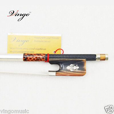 BRAND NEW Carbon Fiber Viola Bow NICE Natural Red Ox Horn Frog CLEAR Tone