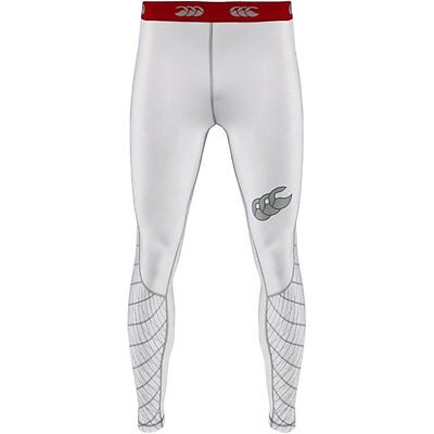 "Canterbury Mens Mercury Compression Legging White Last 1 Size L 36""waist Rrp£50"