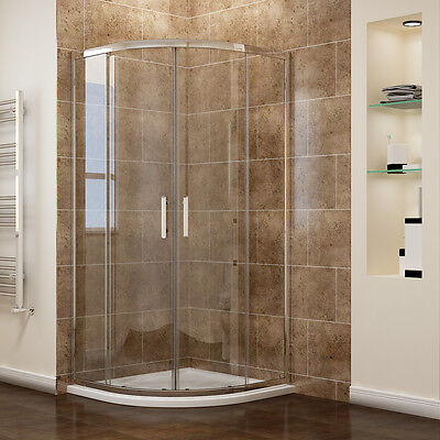 Offset Quadrant Shower Enclosure 8mm Easy Clean Glass Walk in Corner Cubicle