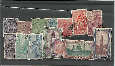 India 1949 part set used to 10r SG323