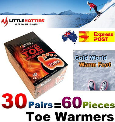 Little Hotties Warmers Adhesive Toe Warmer (Pack of 30) - Express Post