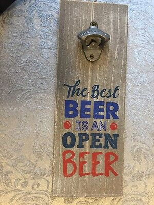 Wooden Beer Opener Wall Sign Ideal for Man cave