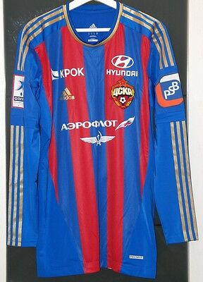 Cska Moscow (Russia) Match Worn Shirt Russian League Rahimic Bosnia