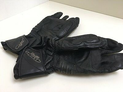 DC1 Alpinestars SP2 Motorcycle Leather Silicone Kevlar Gloves Size Large
