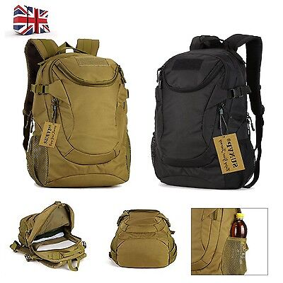 25L Molle Tactical Military Bag Rucksack Backpack Shoulderbag Outdoor Camping UK