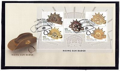 2012 Australia Rising Sun Set Of 5 Mini Sheet FDC, Mint Condition