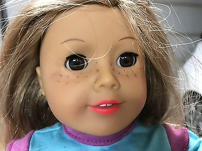 American Girl Blonde Freckles Doll Truly Me 2012 with Outfit