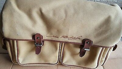 John Partridge canvas & leather shooting bag