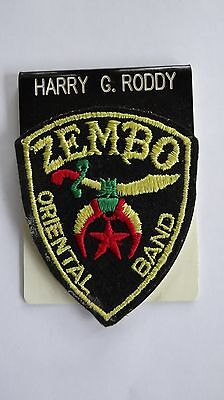 Shrine Masons Freemason Zembo Oriental Band Patch Harry Roddy
