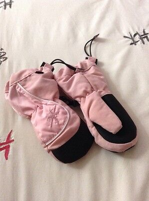 Babies Pink Mittens Aged 2