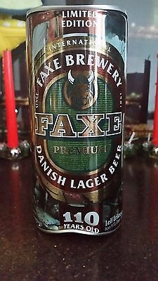 """EXTRA RARE BEER CAN """"FAXE"""", RUSSIA, LIMITED EDITION, 110 year old Last  crumpled"""
