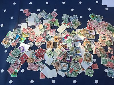 Jamaica Caribbean massive stamp hoard off paper mint & used approx 400