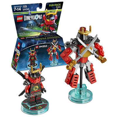 LEGO® DIMENSIONS NINJAGO 71216, 59 Pieces,Fun Pack. New & Sealed FREE SHIPPING