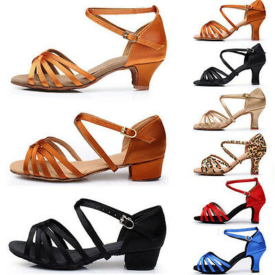 Women Girl lady's Ballroom Tango Latin Dance Dancing Shoes heeled Tango Salsa