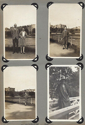 INVERNESS Visitors in the Town - 4x Vintage Photographs 1930