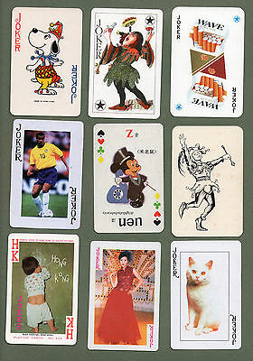 Great selection of jokers from playing cards  #366