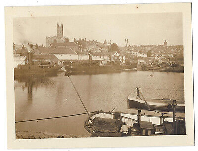 PENZANCE View in the Harbour - Vintage Photograph c1930s
