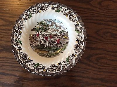 Myotts Country Life Hunting Scene Dish - Hand Engraved