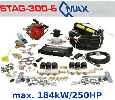 Autogas Conversion kit for 6 cylinders STAG Qmax Basic 184 kW / 250 HP LPG