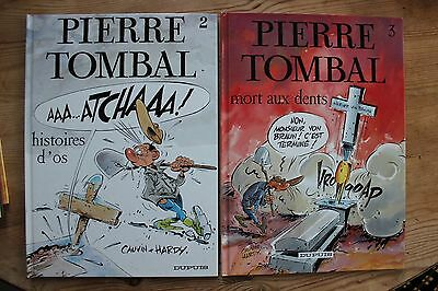 Lot 5 BD  Pierre Tombal Tome 2-3- 6- 7-12 Cauvin Hardy éditions Dupuis