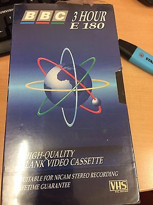 BBC Blank E180 VHS 4 PACK Video Tape Sealed Unused