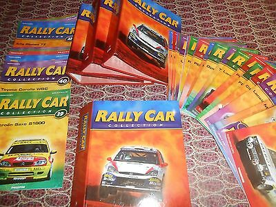 The Rally Car Collection Set of 70 Magazines and 4 File Folders from De Agostini