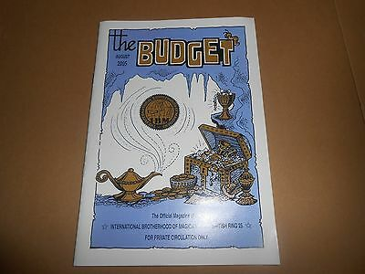 The Budget Official Magic Magazine of the IBM Magicians - August 2005