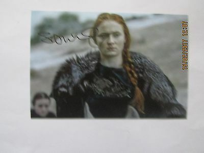 Sophie Turner, Hand Signed 6x4 Photo,  (Game of Thrones)