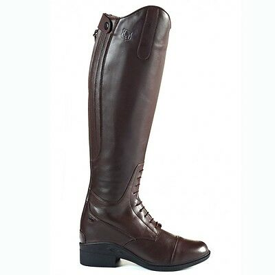 New Just Togs Nebraska H20 Long Leather Riding Boots Size 5 Brown