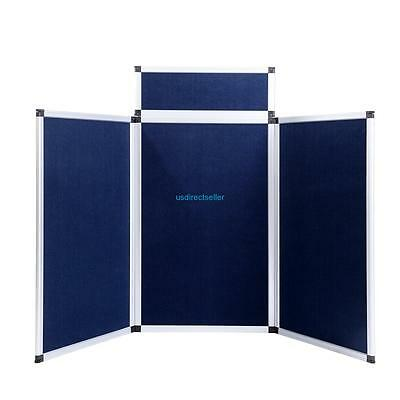 Blue 3 Panel Portable Folding Display Boards Exhibition Stand Trade Show School