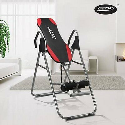 NEW Foldable Genki Fitness Gravity Exercise Inversion Table, Adjustable Boom