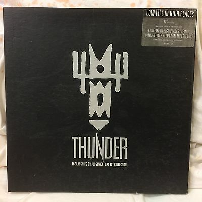 """Thunder The Laughing On Judgement Say 12"""" Record Collection Low Life High Places"""