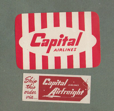 Airline luggage label Baggage Label Capital Airlines   #582