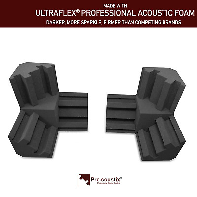 Pro-coustix Acoustic foam Corner Treatment Kit Duo 6x Bass Traps 2x Corner Cubes