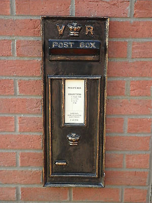 victorian style wall mounted fiberglass postbox face plate fascia/front