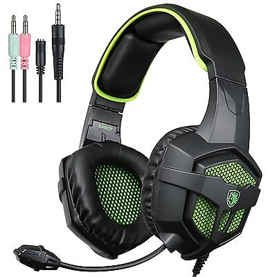 Sades SA807 Xbox One PS4 PC Gaming Headset gioco cuffie Gaming