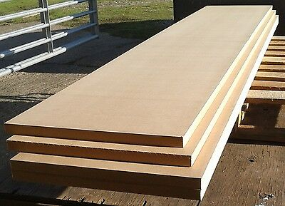 10 Pieces of New 25mm MDF 96in x 18in (2440mm x 450mm)