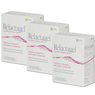 Relactagel Vaginal Gel for Bacterial Vaginosis & pH Balance 3 pack – 3 x 7 Day T