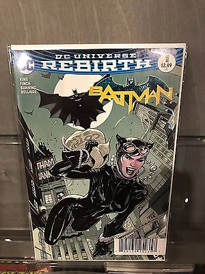 Batman #1 Midtown Exclusive Terry Dodson Catwoman Color Variant Cover Rebirth Nm