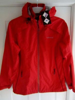 Ladies Red Waterproof Coat - Size 12 **NEW WITH TAGS**