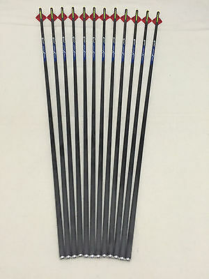 """12Pcs Carbon Express arrow spine300 with 2""""blazer vane for compound bow hunting"""