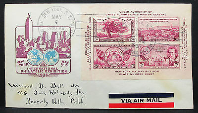 International Philatelic Exhibition US Airmail Cover NY USA Lupo Brief (H-8019