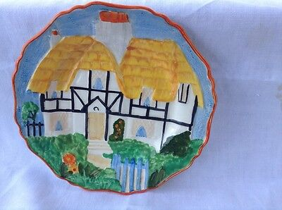 Hancocks Ivory ware Thatched cottage 1930's lovely
