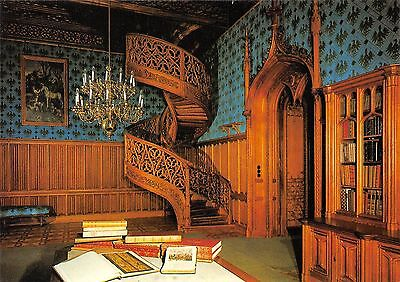 Czech Republic Lednice Chateau's Library with the spiral staircase Castle