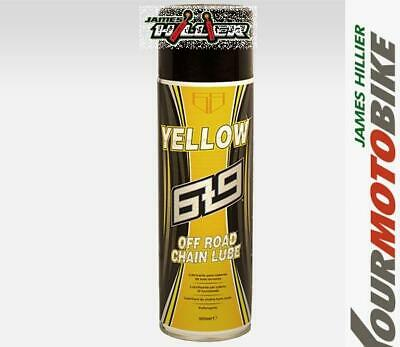 6t9 YELLOW Off Road Chain Lube 500ml Works Upside Down