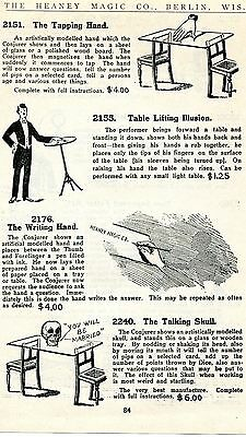 1920 Print Ad of The Writing Hand, Tapping Hand, Talking Skull & Lifting Table