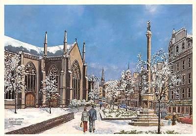 Dundee City Churches and Mercat Cross in winter Artwork D.A Edward