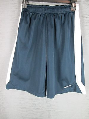 Nike - Navy Blue Athletic Basketball Shorts Youth Boy's L  Large Fitness Sports