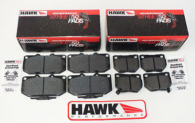 Hawk HPS 5.0 Fast Road Front & Rear Brake Pads to Fit Subaru Impreza Turbo/WRX