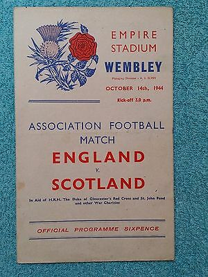 1944 - ENGLAND v SCOTLAND PROGRAMME - WARTIME INTERNATIONAL - OCT 1944